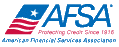 AFSA logo: red white and blue flag with text that says AFSA.